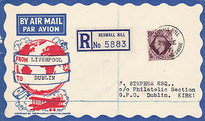 1947 KGVI First Day Cover F.D.C 11d Plum Heswall Hill Wirral Lancashire postmark