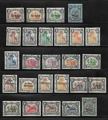 1901 Collection Of Used And Unused Nyassa Company Stamps