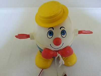 Vintage Fisher Price Humpty Dumpty Pull Toy #736