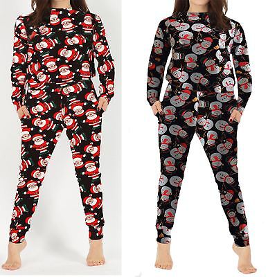 Womens Ladies Novelty Christmas Xmas Tracksuit Loungewear Set Top Bottom Sweat