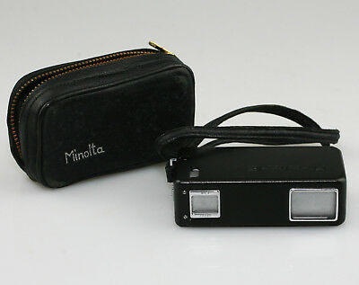 MINOLTA 16 Sub-Miniature 16mm Spy Camera in BLACK with Case (PZ36)