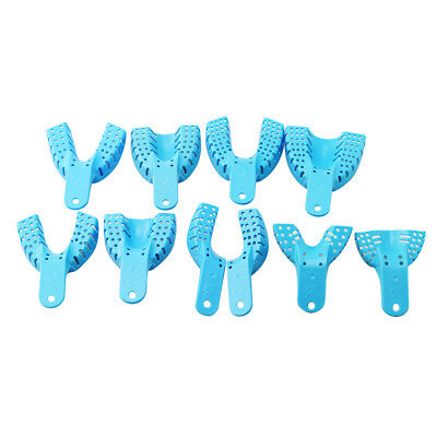 100pcs Dental Plastic Disposable Impression Trays Set Perforated Autoclavable Ho