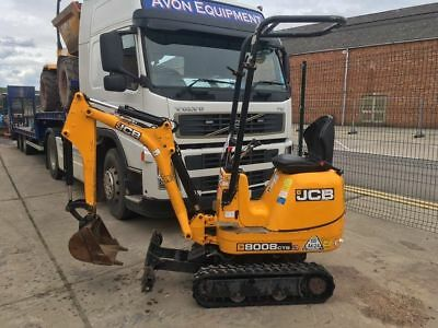 Jcb 8008 Micro Digger Cw Buckets Year 2014 Low Hours