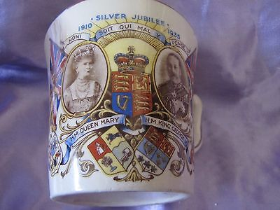 Queen Mary and King George Silver  Jubilee mug Commemorative Tams Ware VGC