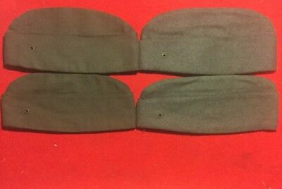Rare Lot Of (4) Ww2 Ww1 Us Army Enlisted Mans Overseas Hats Doughboy