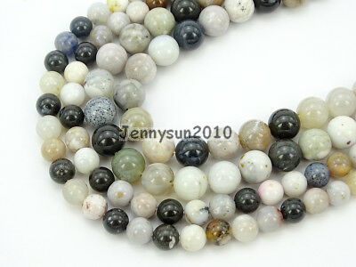 Natural Parral Dendrite Agate Gemstone Round Spacer Beads 15.5'' 4mm 6mm 8mm