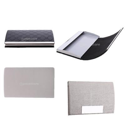Professional Business Card Holder for Men & Women Black Grey Silver Color