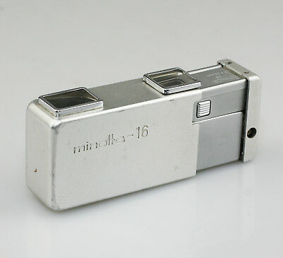 MINOLTA 16 Sub-Miniature 16mm Spy Camera in Chrome/Silver (PZ38)