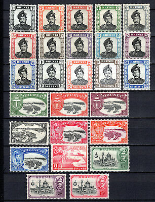 Brunei Malaya Straits Settlements 1949-1958 Selection Of Mh Stamps Mounted Mint