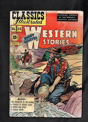 Classics Illustrated #62 Poor Hrn121 Western Stories (Free Ship On $15+ Orders)