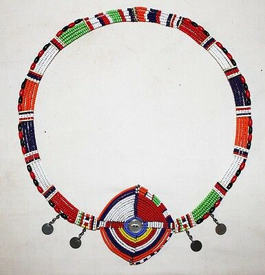 African Maasai Masai Beaded Ethnic Tribal Collar Necklace Jewelry - Kenya 84