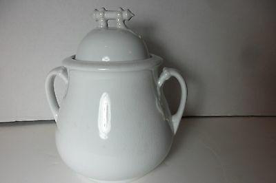 Antique stew, soup, or fruit Pot Thomas Furnival & Sons England White Porcelain
