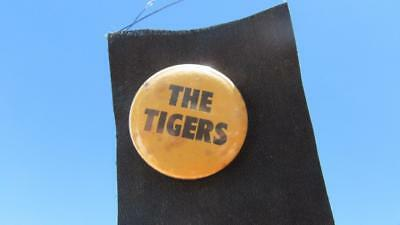 1970-1980's Circa The Tigers Button/Badge on Black Silk Cloth with Working Pin.