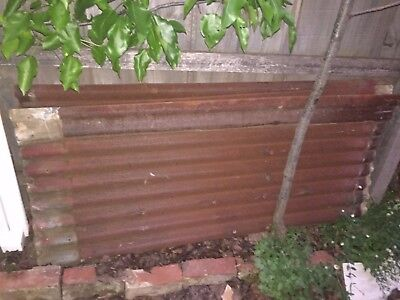 Rusty Corrugated Iron / Tin from old shed - 10 pieces