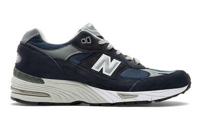 New Balance 991 Nv Made In Uk Scarpa Running Lifestyle Sneaker Uomo Blu Navy