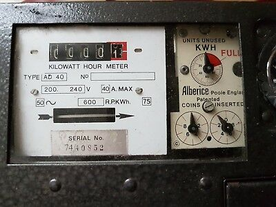 COIN OPERATED ELECTRICITY METER 50p coin