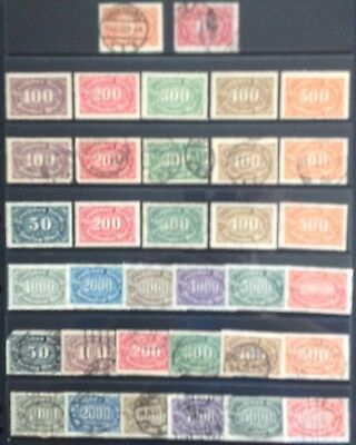 Germany 1921-1923 Digits in Crosswise Oval MNH/MLH & Used