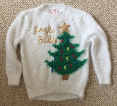 Girls Sequin Christmas Jumper - Size 4 Years - Excellent Condition Worn Once