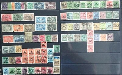 Germany 1923 Inflation Year Issues Used 3 Scans