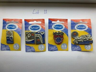 Lot 11 / 4 Sydney 2000 Olympic Games Pins Australian Made Pewter