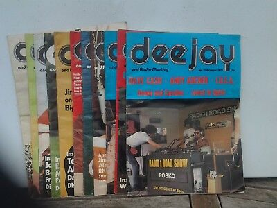 Collection From 1973 Of DeeJay Magazines