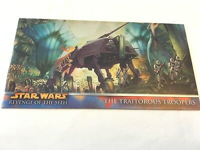 TOPPS STAR WARS ROTS WIDEVISION CHROME METAL carte H6 the traitorous troopers
