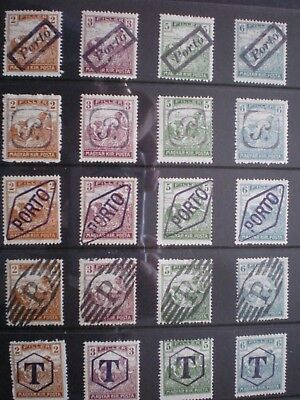 Stamps - Hungary- Postage Due Overprints