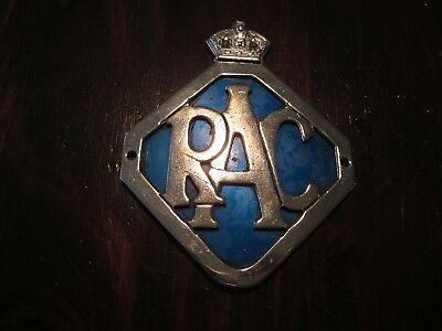 Vintage Rac Members Badge For Front Of Car Grill. George Vi Period.