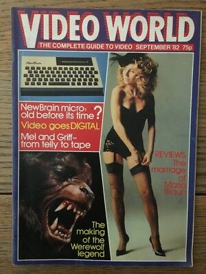 Video World September '82 Marriage Of Maria Braun, American Werewolf In London,