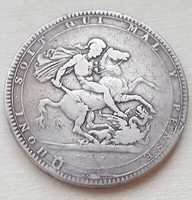 1819 King George III Silver British Crown Coin
