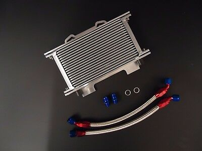 Suzuki GSXR750 GSXR1100 Oil Cooler Kit Braided Pipes Mounting Bracket RB GSXR