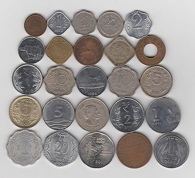 25 Different Coins From India - Includes 3 from British Occupation 1903 / 2000s