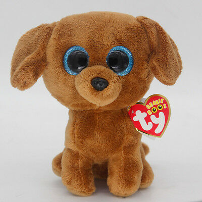 "Ty Beanie Boos 6"" Dougie Stuffed Plush Toy Soft Animals Toy Girls&Boy Plush Doll"