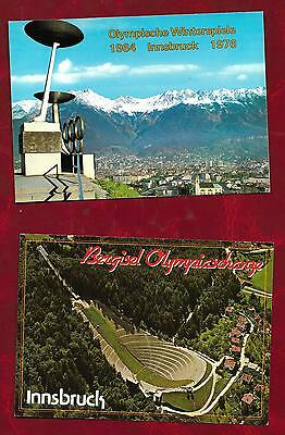 2 Innsbruck Winter Olympic games postcards published by KTV