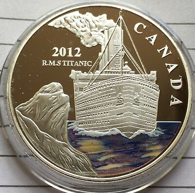 R.M.S TITANIC 1oz Finished In Silver Medallion Coin Collectable & Capsule 2012