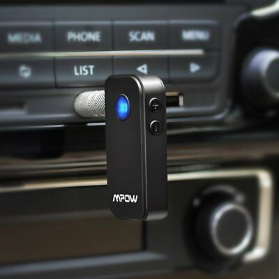 Mpow Wireless Bluetooth 3.5mm AUX Audio Stereo Music Home Car Receiver Adapter