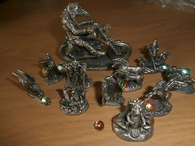Selection of WAPW UK Wizard and Dragons collectibles. 11 in total. pewter.