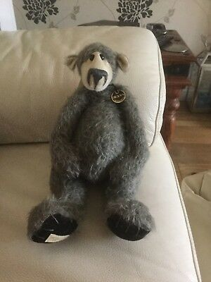 Deans Mohair Teddy Bear - Midnight By Jill Baxter - No 358 Of 500 With Tags