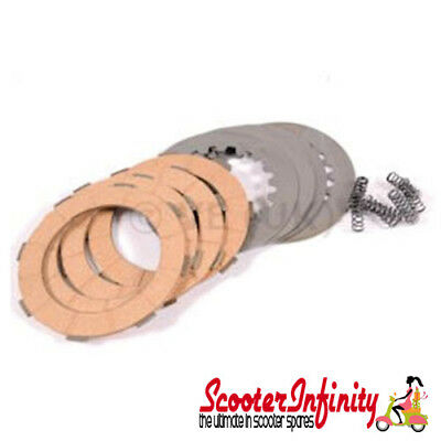 Clutch Plate Kit 4 Corks with Steels NEWFREN Vespa PX 125-200 E, PX 200 MY, T5