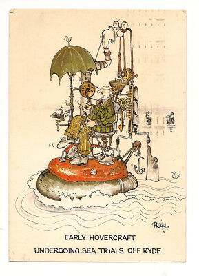 postcard- Isle of Wight-Ryde-Humour=Early Hovercraft Trials