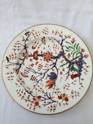 Antique Royal Crown Derby Bloor Period 19th Century Plate Hand Painted Stapled
