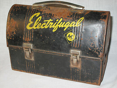 Rare 1940's Vintage Allis-Chalmers Advertising Electrifugal Workman's Lunch Box