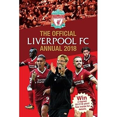 Official Liverpool FC Annual 2018 NEW Hardback Book 191128774 Kids Football Gift
