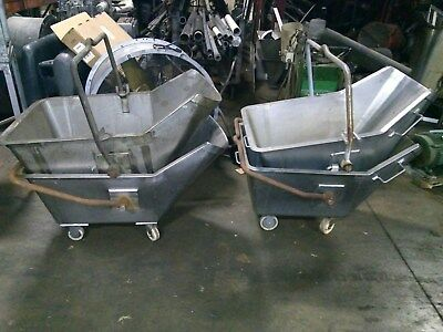 4 - Stainless Steel 50 gallon dump buggy bucket - used