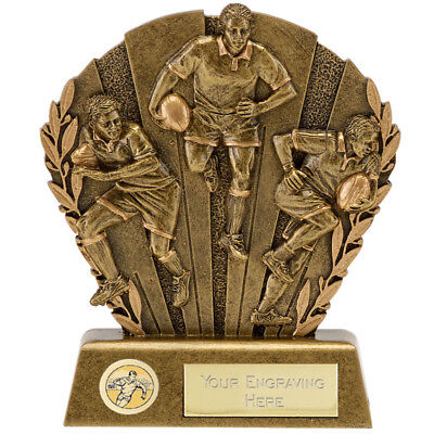 A1652D RESIN RUGBY TROPHY SIZE 17.75 CM FREE ENGRAVING