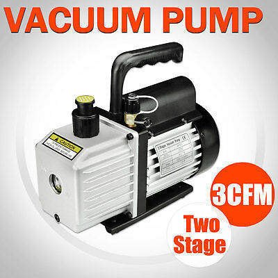 1/3HP 3CFM Two Stages Refrigeration Vacuum Pump Tools Air Conditioning New
