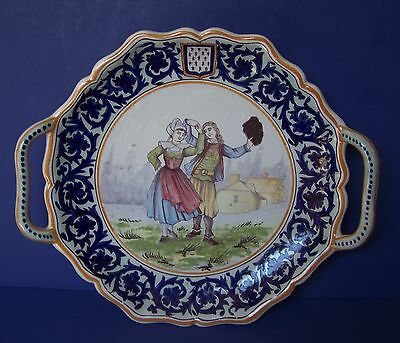 QUIMPER or DESVRES bannette French faience pottery