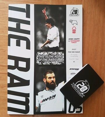 DERBY COUNTY v  NOTTINGHAM FOREST 2017/18~MINT IN HAND NOW! FREE POSTAGE PLUS EX