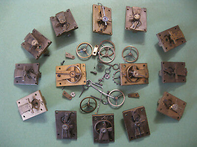 Cylinder Platform Parts From French Carriage Clocks For Spares Only.
