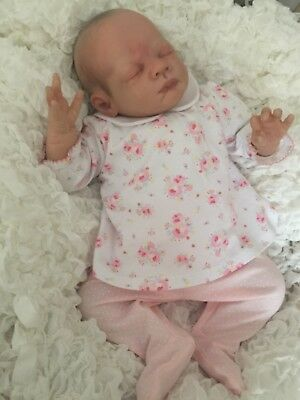 Bnwt Baby Girls Ditsy Print 2Pce Outfit - Preemi Baby Or Reborn Doll Size